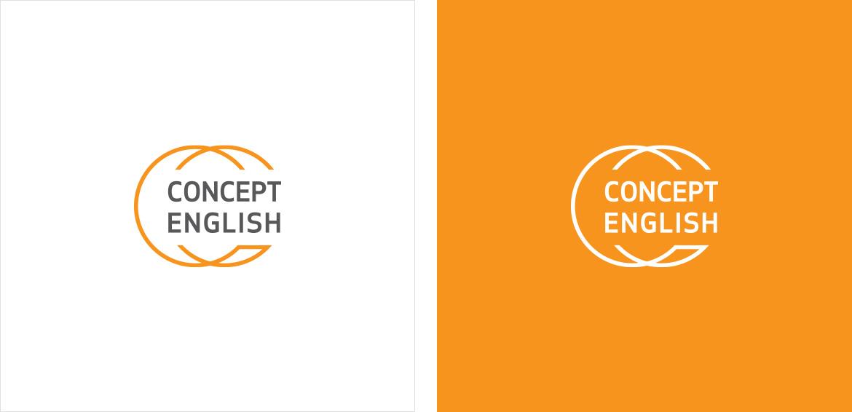 concept english logo